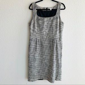 Banana Republic White/Black Tweed Dress size 14